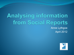 Analysing information from social reports