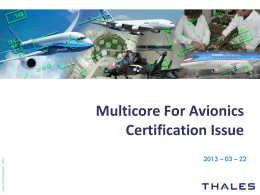 EASA MULTI-CORE PROCESSOR QUESTIONNAIRE