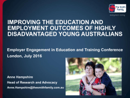 Improving the education and employment outcomes of highly