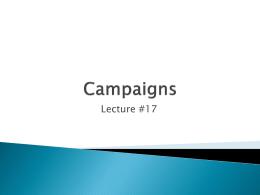 Campaigns - Cardinal Scholar