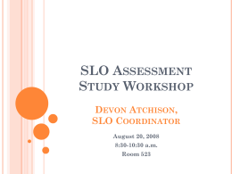 Atchison (2008) Assessment Workshop