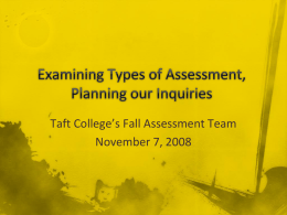 Examining Types of Assessment
