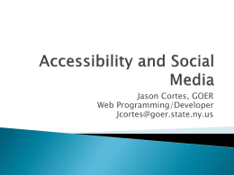 Accessibility and Social Media