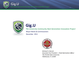 The University Community Next Generation Innovation Project Gig.U