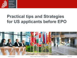 Working Successfully with the EPO