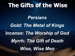 The Gifts of the Wise - Providence Bible Church