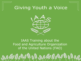 FAO-IAAS Training Program