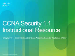 CCNA Security 1.1 Instructional Resource