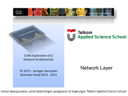Chapter 6: Network Layer