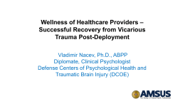 View slides - AMSUS Continuing Education