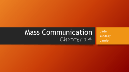 Mass Communication - Gordon State College