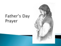 Father*s Day Prayer