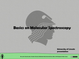 uv / visible spectroscopy - theory