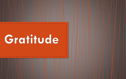 Why should we have a attitude of gratitude?