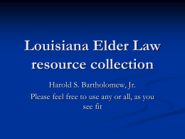 Louisiana Elder Abuse Laws (Feb. 2013)