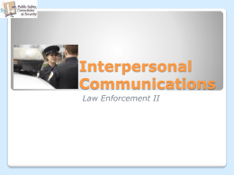 Interpersonal Communications PowerPoint