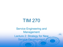 Lecture 2 - Strategy in Services