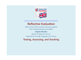 PPT about Assessment, testing and teaching