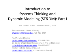 An Introduction to Systems Thinking and Dynamic Modeling