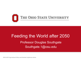 Southgate - Feeding the World after 2050