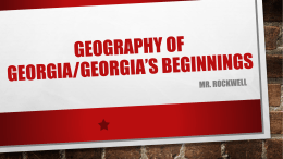 Georgia Geography PowerPoint