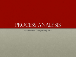 Process/Analysis - ReadWriteWorkshop