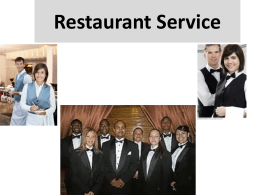Restaurant Service Basic