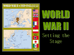 WWII Setting the Stage