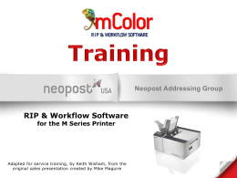 mColor Service Training Presentation