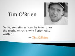 Tim O`Brien Powerpoint