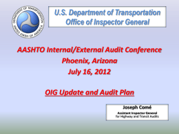 U.S. Department of Transportation Office of Inspector General