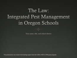 School IPM Law
