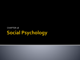 Social Psychology - fernandezappsych