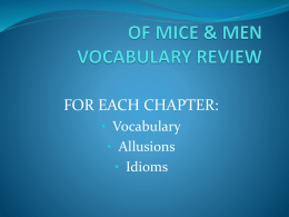 Of Mice and Men vocabulary Power Point