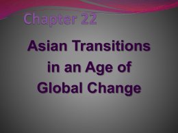Ch. 22 – Asian Transitions in an Age of Global Change