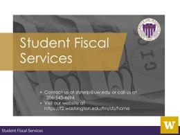 Create a spending plan - University of Washington