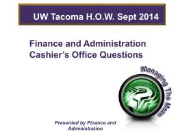 student loans - UW Tacoma Home