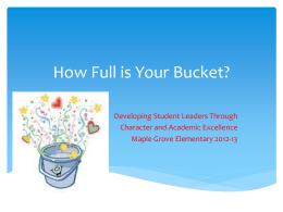 Bucket filler presentation