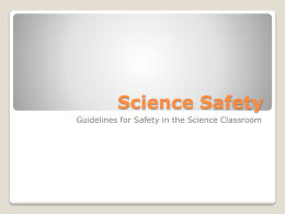 Science Safety 2013