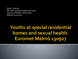 Youths and Sexual Health.