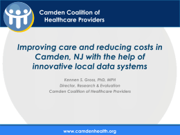 CCHP Solution - Camden Coalition of Healthcare Providers