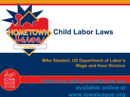 the fair labor standards act concerning child labor Home understanding the fair labor standards act  child labor restrictions,  the nih and nsf have released statements concerning flsa compliance for postdocs,.