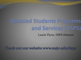 Disabled Students Programs and Services
