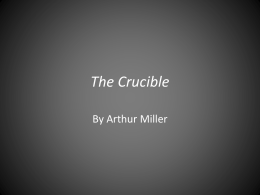 The Crucible - woodenspowerpoints