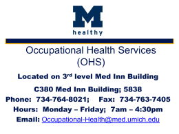 Occupational Health Services OHS