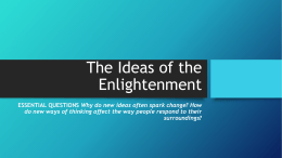 The Ideas of the Enlightenment - Mater Academy Lakes High School