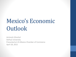 Mexico`s Economic Outlook - United States