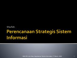 1 Perencanaan Strategis Sistem Informasi