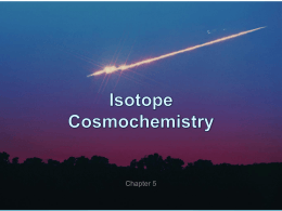 Chapter 5. Isotope Cosmochemistry