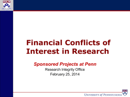 Sponsored Projects - University of Pennsylvania